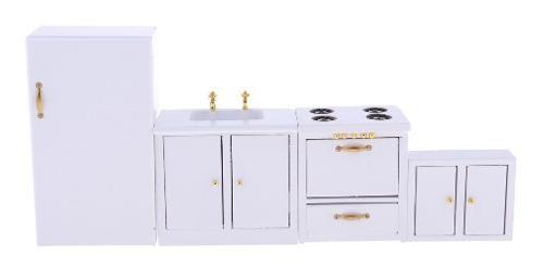 Escala 1/12 Miniaturas Modelo De Muebles De Cocina De