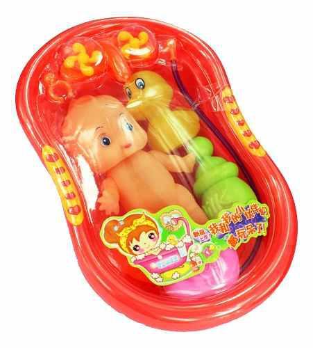Juguete Casa De Muñeca En Miniatura Bañera Baño Plástico