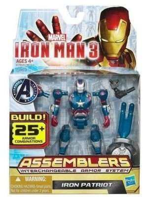 Marvel Figura Iron Man Assemblers Iron Patriot 3.75