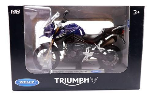 Moto Escala Miniatura 1/18 Welly Triumph Tiger Explorer
