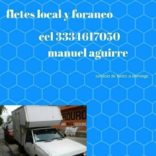 servicio de fletes y mudanzas local y foraneo