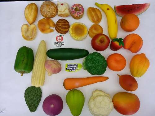 14 Miniaturas 100% Reales: Pan, Fruta O Verdura Por Pieza
