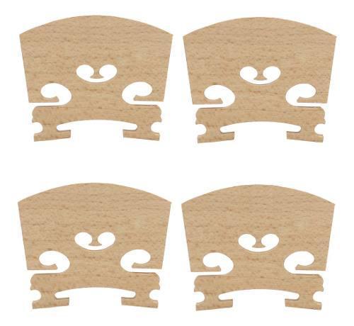 4 Piezas Maple Violin Bridge Instrumento Musical Accesorio