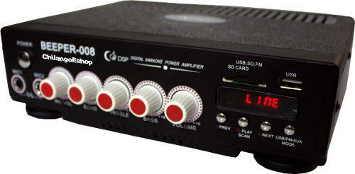 Amplificador Perifoneo Publidifusion Bluetooth Usb/sd/fm/mic