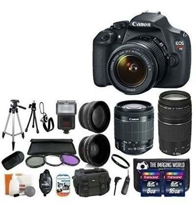 Canon Eos Rebel T Mp Cmos Digital Slr Kit De Cámara