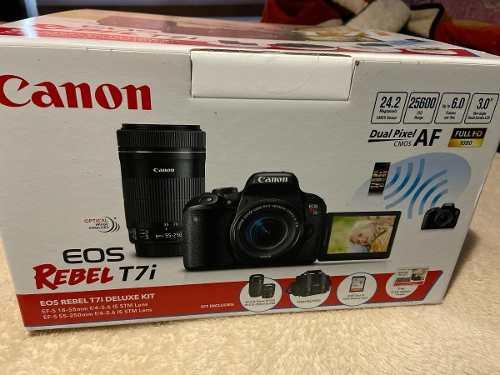 Cámara Canon Rebel T7i Eos 800d Digital Slr  Y