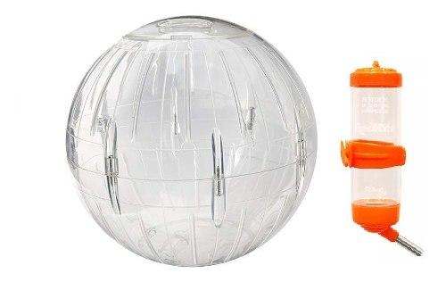Esfera Para Hamster 18 Cm Diámetro C/base + Bebedero 125 Ml