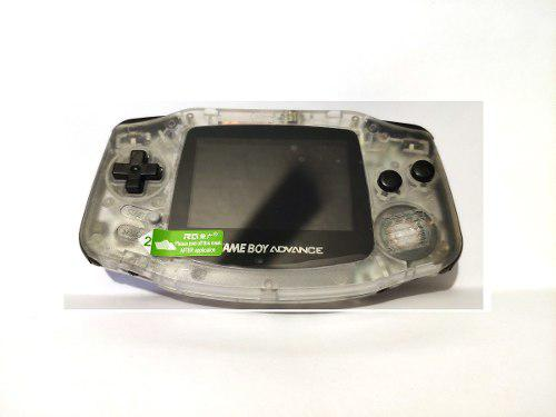 Gameboy Advance Retroiluminado Trasparentebotones Negros.