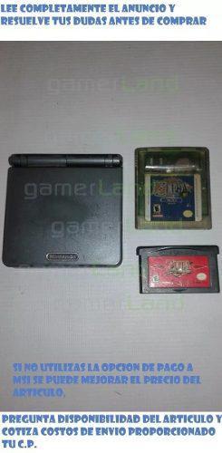 Gba Sp Incluye 2 Juegos Zelda Minish Cap Y Oracle Of Ages