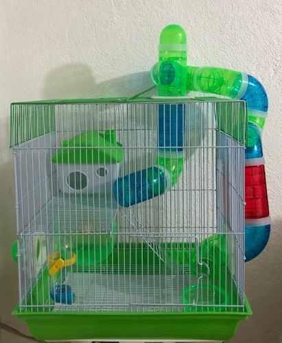 Jaula Para Hamster Con Tubos 35 Cm X 26 Cm X 41 Cm.