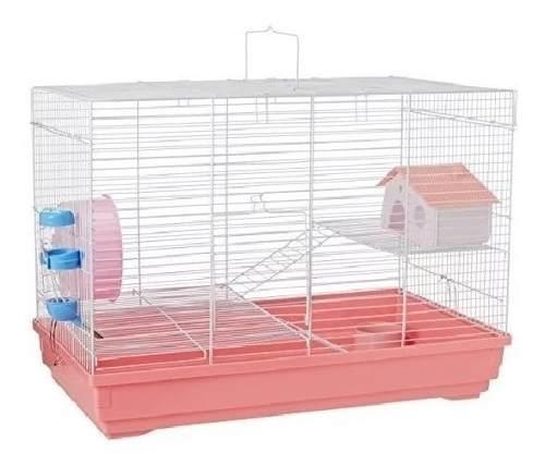 Jaula Tuxon I I Para Hamster + Aserrin Color Rosa