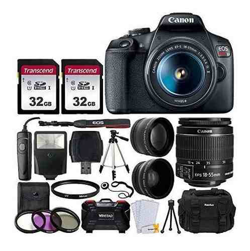 Kit De Camara Digital Slr Canon Eos Rebel T7 Envio Gratis