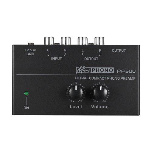 Preamplificador Phono Ultra Compacto Con Nivel Y Volúmen