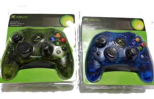 Set De 2 Controles Para Xbox Clásico Primera Generación