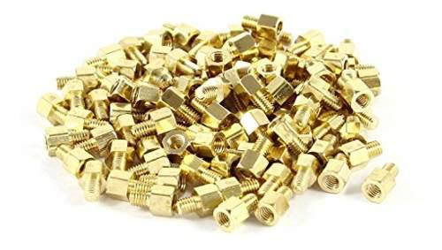 Uxcell 100pcs Brass Hex Standoff Spacer Tornillo