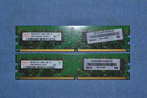 Memoria Ram Ddr2 2gb A 800mhz Pc Lote De 02 Piezas Remat