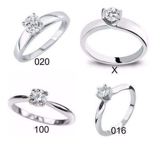 Anillo Compromiso Blanco 14k Diamante Natural De Mina.17ct