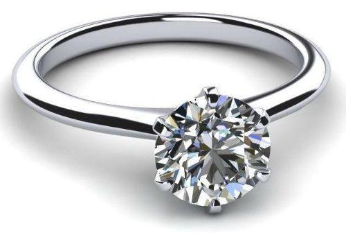 Anillo Con Diamante Cultivado De 200 Pt. En Oro De 18k.