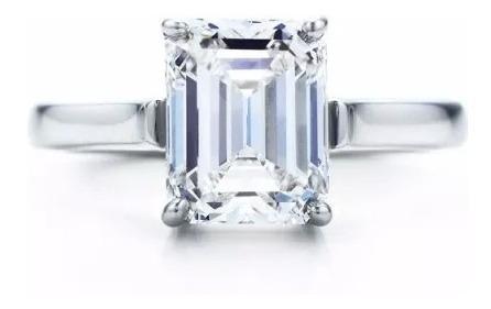 Anillo Con Diamante Cultivado Esmeralda De 100 Pt En Oro 14k