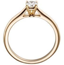 Anillo Con Diamante Natural Redondo De 15 Pts. En Oro De 14k