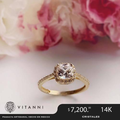 Anillo De Compromiso Oro 14k Diamantes Cultivados