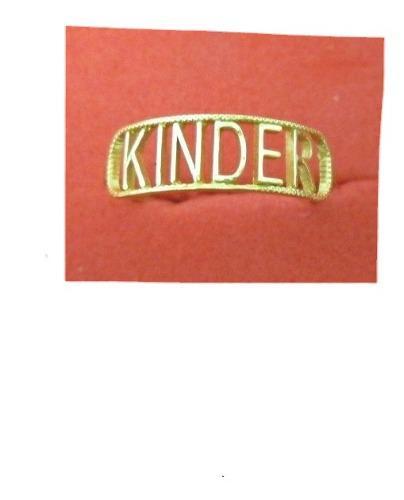 Anillo Graduacion Kinder Oro Sólido 10 K Modelo Calado.