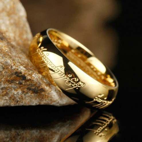 Anillo Lord Of Rings / Señor De Los Anillos / Chapa Oro 18k