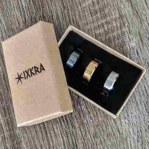 Anillos De Titanio Liso, Paquete De 3(tres)-marca Ixkra