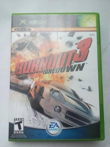 Burnout 3 Takedown Xbox Clasico Original Carreras Trqs