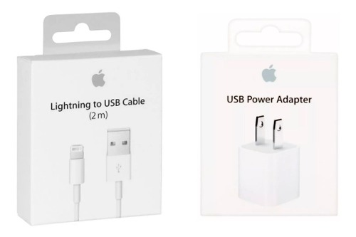 Cable iPhone 2 Mts + Cargador Apple iPhone X  iPod