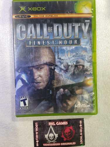 Call Of Duty Finest Hours Para Xbox Clasico