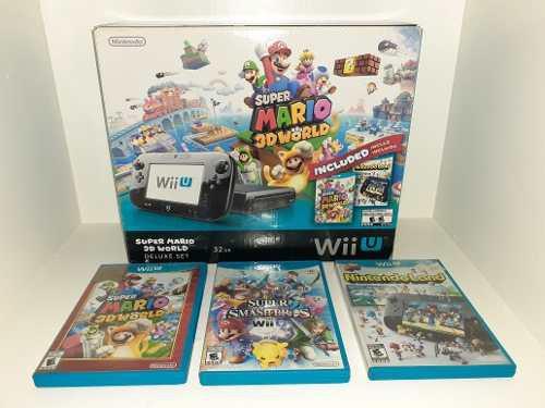 Consola Nintendo Wii U + Mario 3d World + Super Smash Bros
