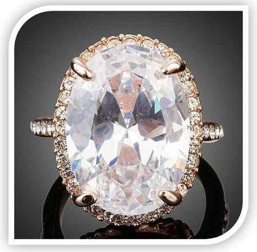 De Remate !! Anillo Cristal Diamante Swarovksi Oro Rosa Amor