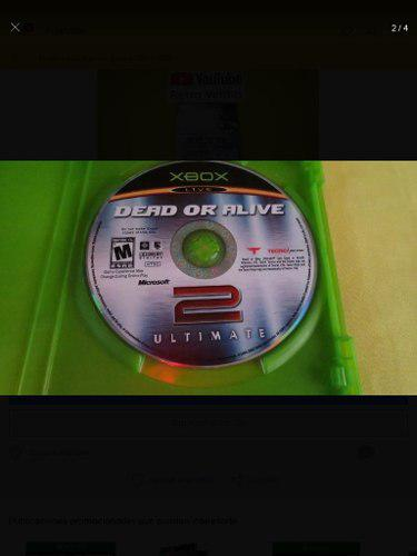 Dead Or Alive 2 Ultimate Xbox Clásico ------------ Mr.game