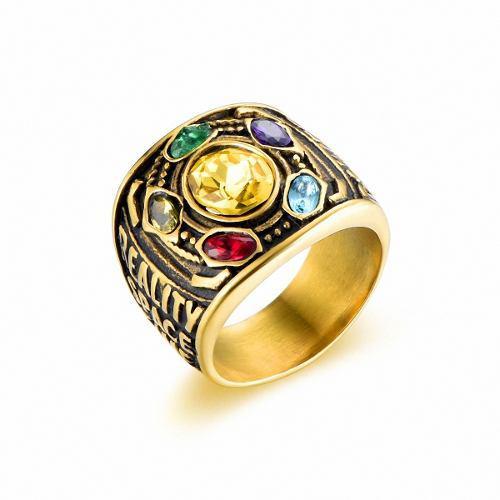 Marvel Avengers Anillo Thanos Acero Inoxida Garantia 6 Meses