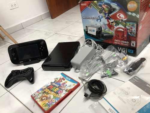 Nintendo Wii U 32gb Mario Kart 8 Eluxe Set Excelente Estado