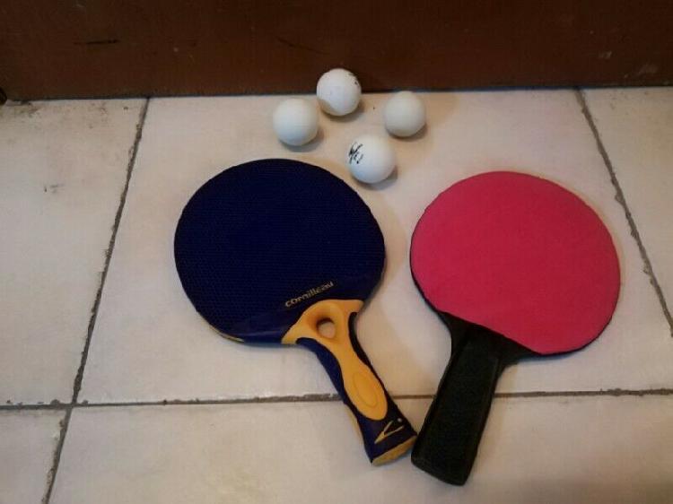 Raquetas para ping pong de buena calidad con 4 pelotas