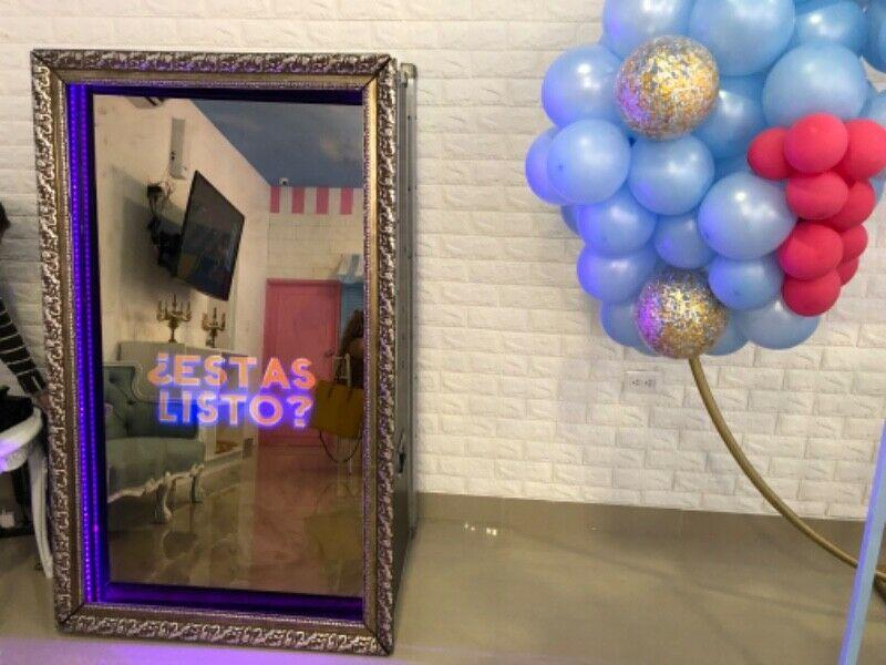 Renta de cabina de fotos espejo inf al  central