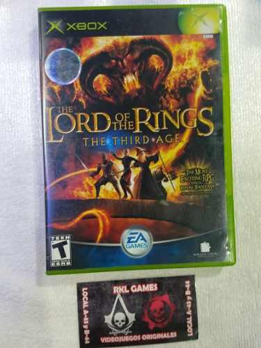 The Lord Of The Rings The Thirds Ages X Box Clasico
