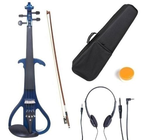 Violin Electrico Cecilio 4/4 Instrumento Musical Azul
