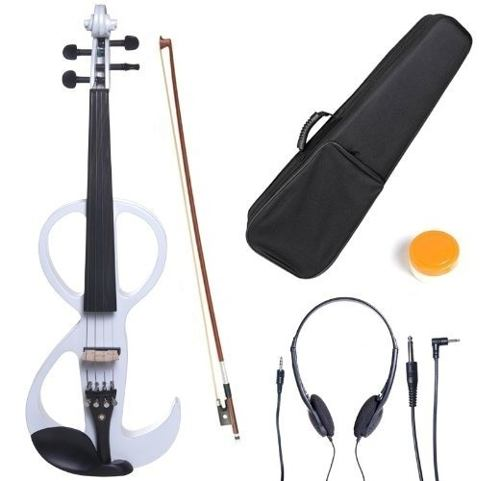 Violin Electrico Cecilio 4/4 Instrumento Musical Blanco