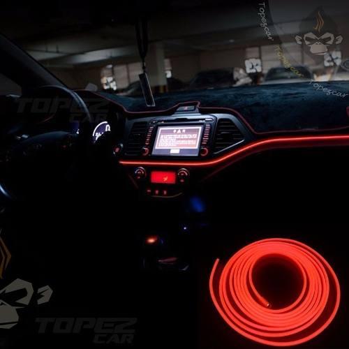 Wire Hilo Auto Interior Tira Neon Led 12v Cable Ceja 5mm 3mt