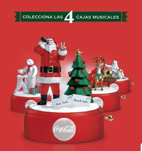 Caja Musical Coca Cola Colección De 4 Piezas Nuevas 2019.