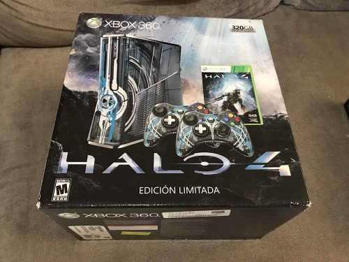 Consola Xbox 360 Edición Limitada Halo 4!!! En Caja