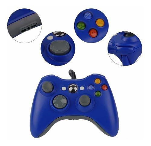 Control Para Xbox 360 Alambrico Colores Compatible Pc Laptop