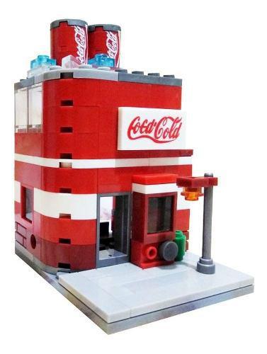 Edificio Bloques Coca Cola Para Diorama Escala 1 A 100