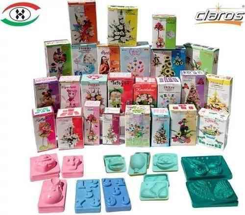 Moldes Para Hacer Flores O Figuras De Fomi Fomy Foamy 1 Kit