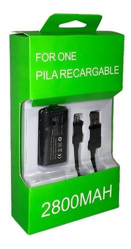 Pila Recarga Y Cable 2.7m Para Control Xbox One Y Modelo S