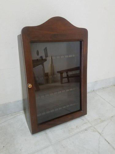 Porta Cucharas Colección, Madera De Caoba Con Puerta