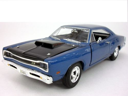 Dodge Coronet Super Bee Blue Diecast 1:24 Motor Max